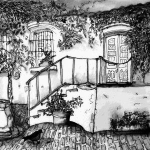 """""""El Cabildo"""". Aguada. 15.50 x 20.50 cm. Abril 2017"""