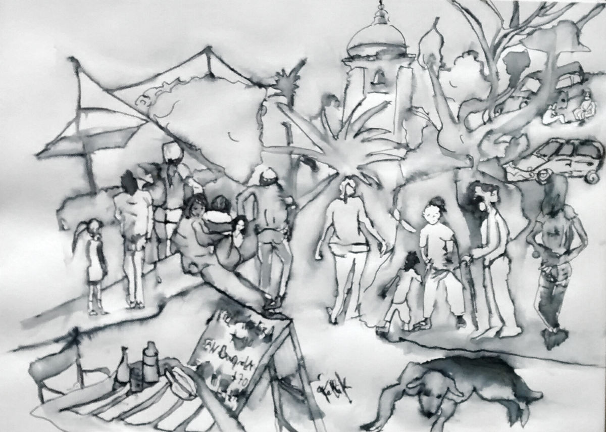 """Luján"".  Aguada. 24 x 33.50 cm. 2 de Septiembre 2017"