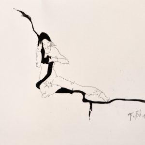 """""""Chinusa 3"""". Tinta. 50 x 35 cm."""