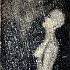 S/T  Grafito sobre tela pequeña14 x 8 cm. 1998