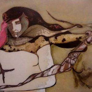 """Zirocco"". Dibujo/color. 50 x 70 cm.  1993"