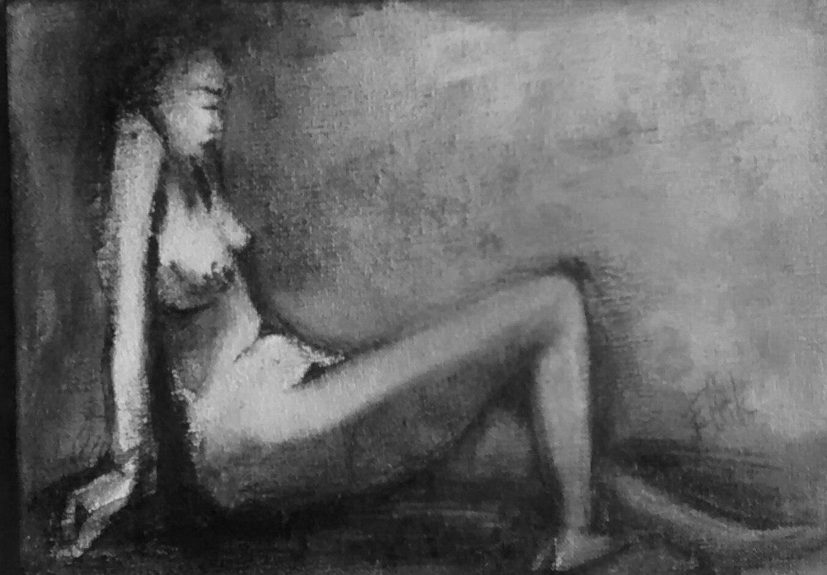 S/T  Grafito sobre tela pequeña. 18 x 13 cm. 2006