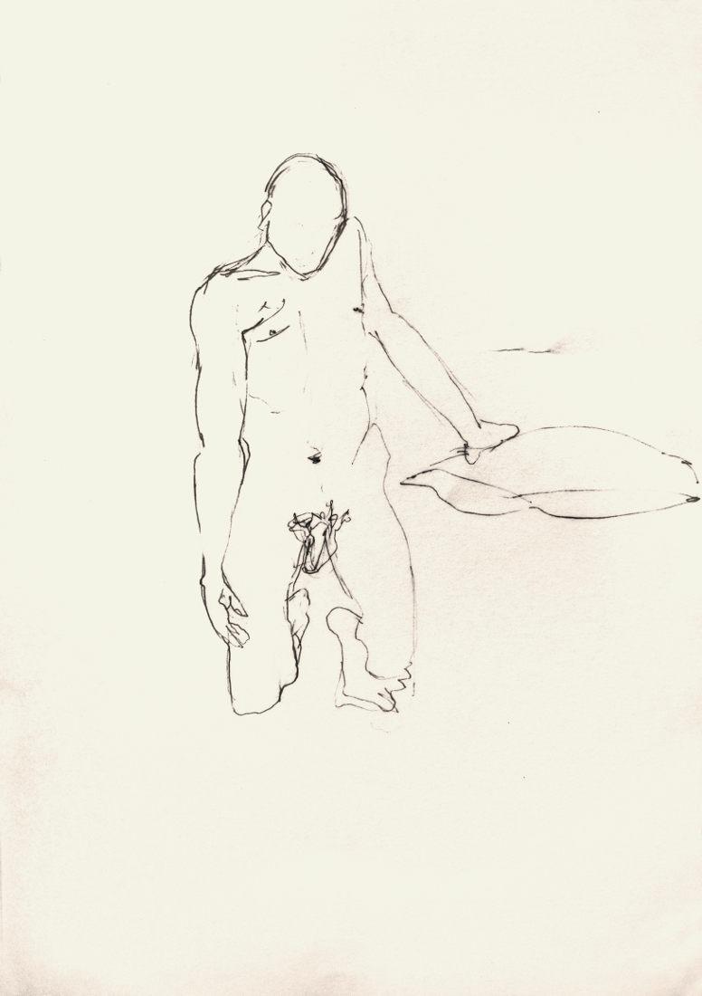 S/T. Lápiz. 50 x 35 cm.
