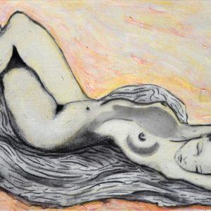 """""""Yamilex"""". Técnica mixta sobre tela. 29.50 x 59.50 cm. 2005"""
