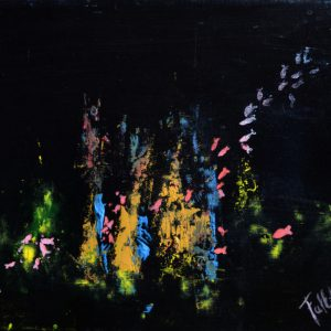 """Los pecis"". Acrílico sobre tela. 24 x 30 cm. 2011"