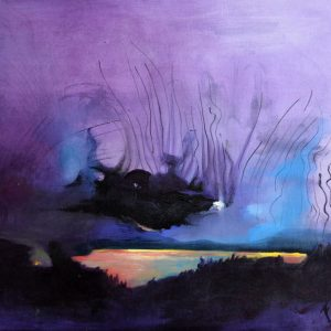 """Nube negra"". Acrílco sobre tela. 60 x 81 cm. 2015"