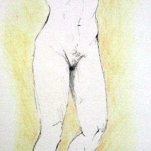 """""""Para Federico, mi amor"""". Lápiz. 35 x 15 cm. 2003"""