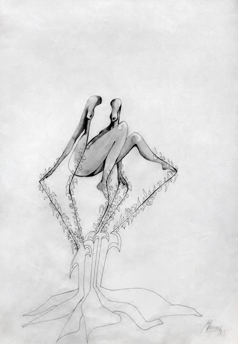 S/T. Lápiz. 33 x 24 cm. 1973.