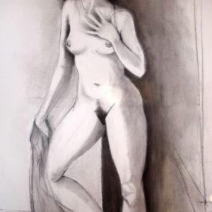 S/T. Carbonilla sobre tela. 90 x 60 cm.