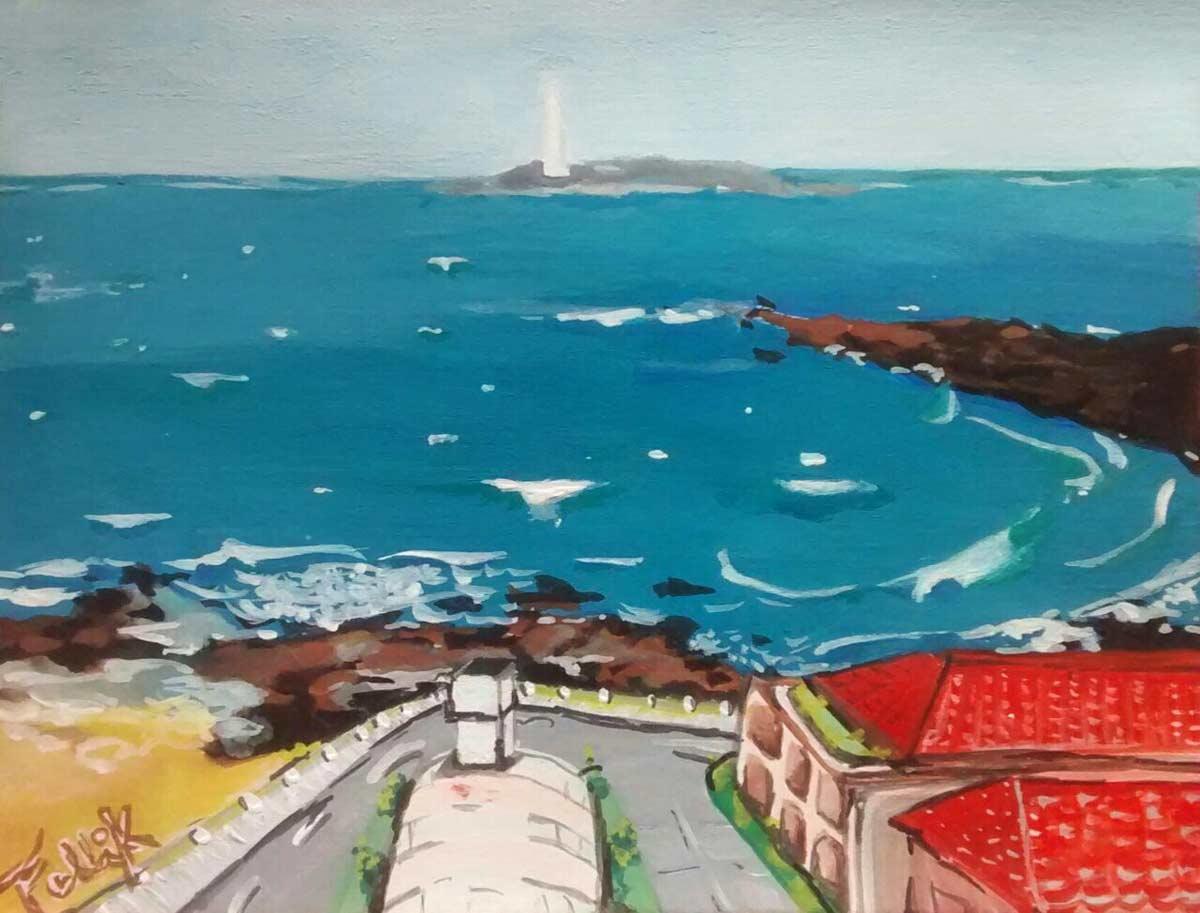 """""""Último viaje con."""" Punta del Este. Gouache. 14.50 x 19 cm. 2014"""
