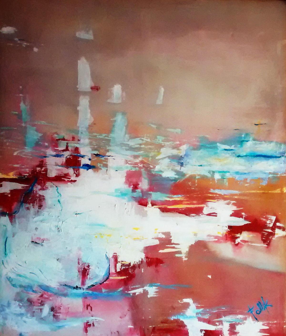 """""""La inmensidad del mar"""". Acrílico sobre tela. 120 X 100 cm. 2008"""