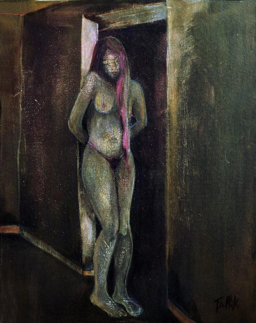 """""""De la serie de los Obscuros"""". Acrílico sobre tela. 50 x 40 cm. 2004."""