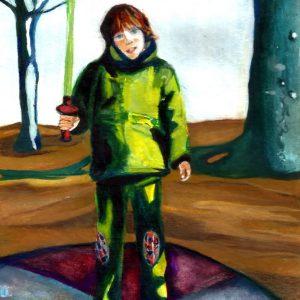 """Mi principito rubio"". Gouache. 25cm x 17 cm. 2015"