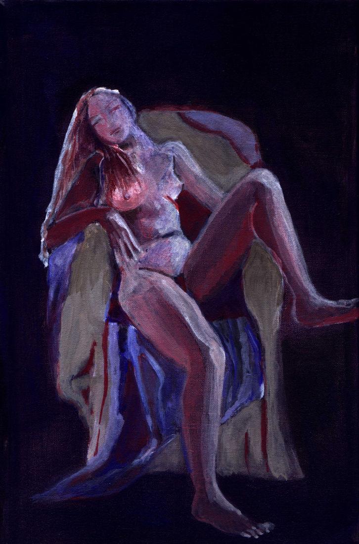 """S/T, """"De la serie de los Obscuros"""". Acrílico sobre tela. 20 x 30 cm. 2004"""