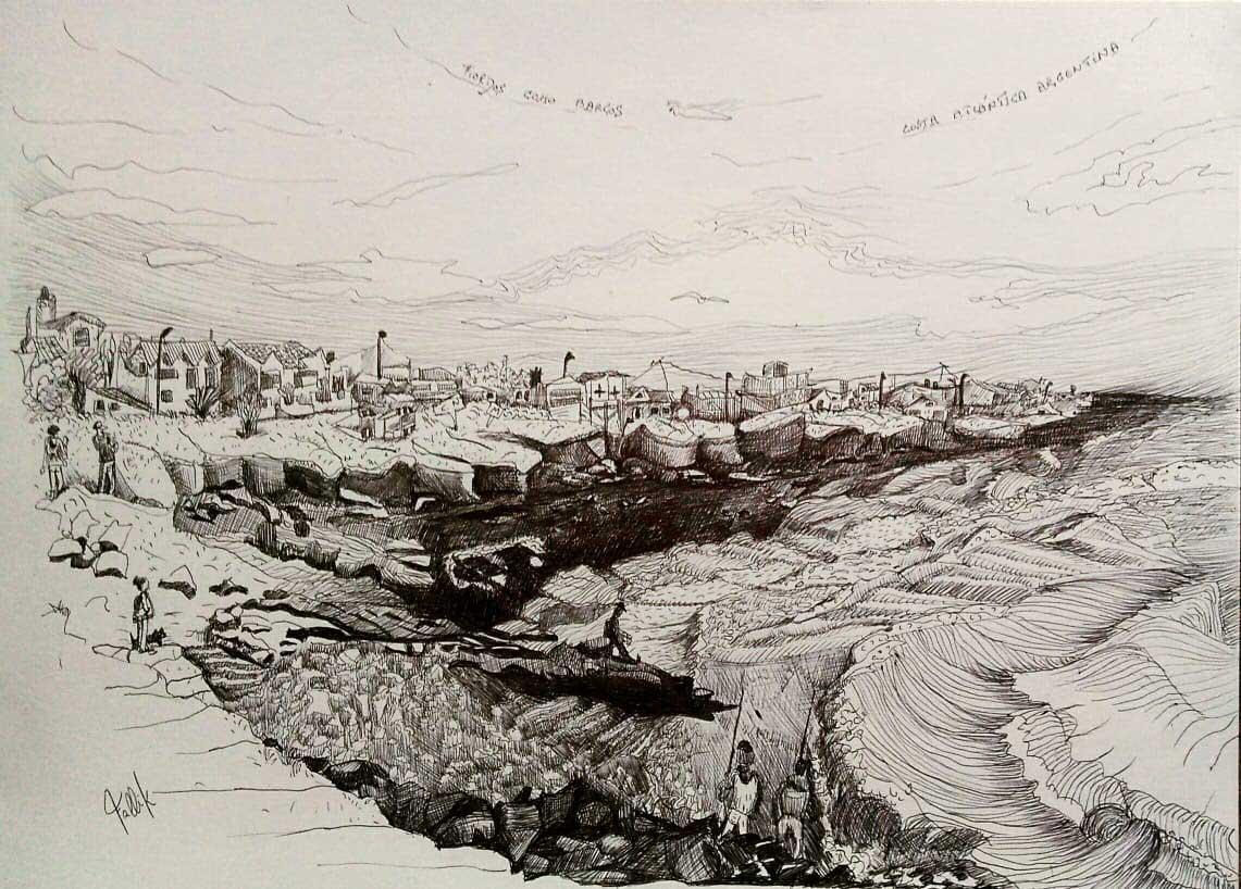 """""""Fiordos como barcos"""" Birome - Monte Camet 2019"""